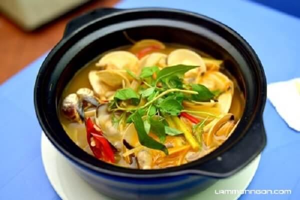 6 cách làm nghêu hấp Thái, nghêu hấp sả gừng ớt cay, nghêu hấp rau muống nước dừa thơm ngon tại nhà