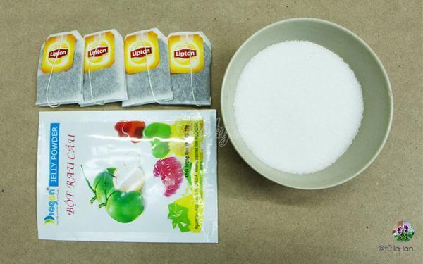Nguyên liệu làm thạch trà đường