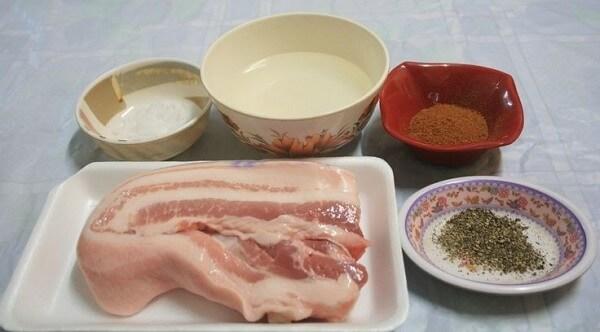 Một số nguyên liệu để thực hiện cách làm thịt áp chảo kiểu Hàn Quốc