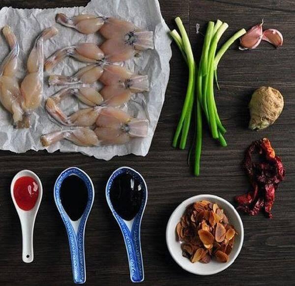 Các nguyên liệu cần thiết để nấu cháo ếch Singapore