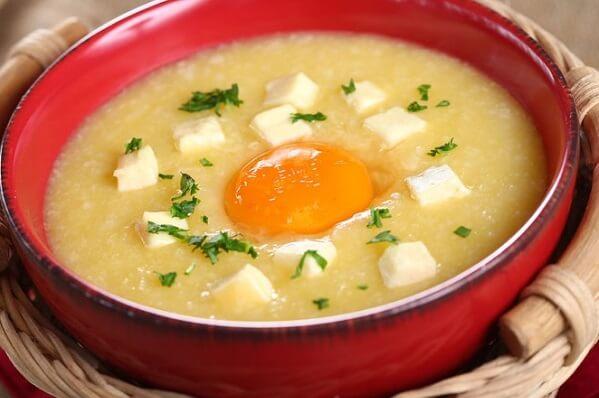 Cách nấu cháo trứng gà khoai lang