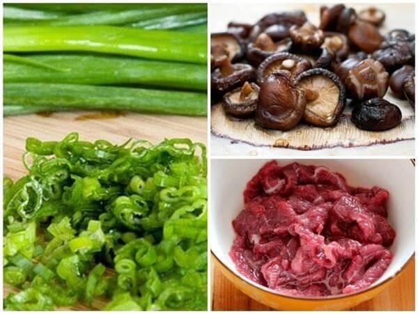 Cách nấu cháo trứng gà thịt bò nấm hương