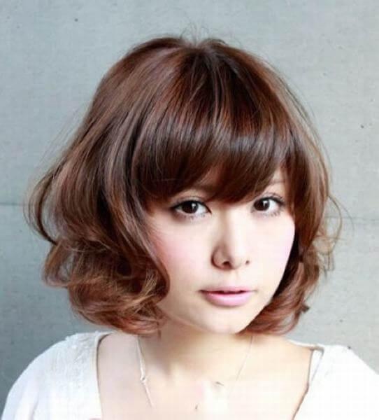 Kiểu tóc ngắn đẹp cho bạn nữ mặt tròn thu hút mọi ánh nhìn-hình số-9