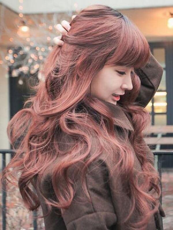 Màu tóc nâu nhuộm – Nâu đỏ