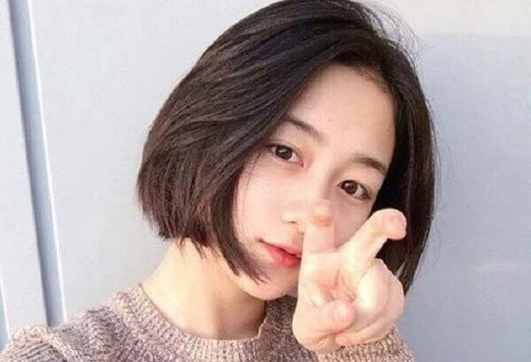 Tóc bob nhọn cho nữ mặt vuông - Kiểu tóc hợp với mặt vuông góc cạnh