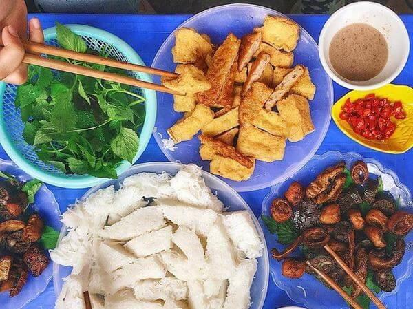 Quán bún đậu mắm tôm Giang – Trung Tự