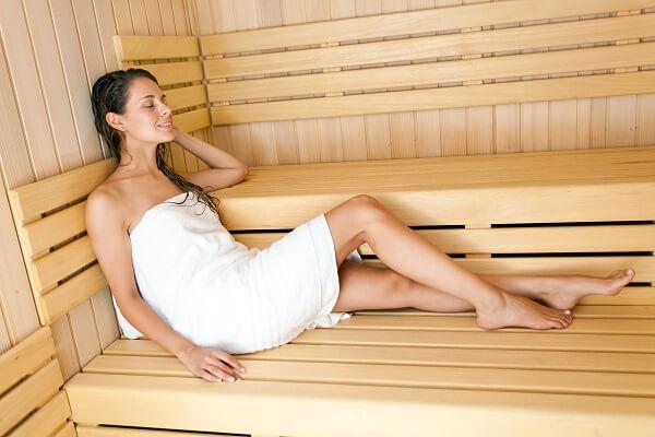 Xông hơi giúp thư giãn và giảm mỡ bụng