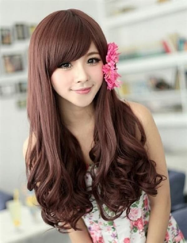 Top 15 kiểu tóc dài uốn xoăn lọn nhỏ bồng bềnh Hàn Quốc đẹp nhất hè 2018-hình số-4