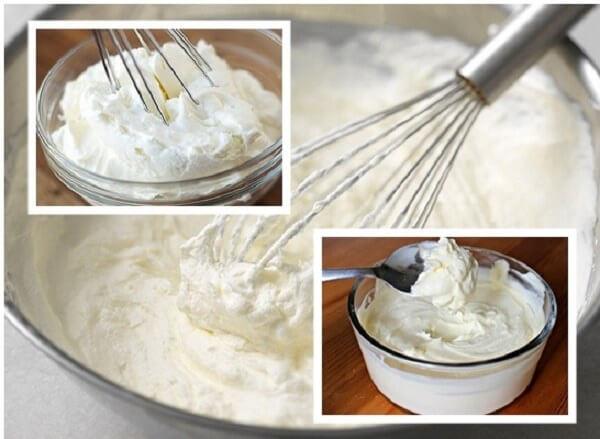 Đánh bông phần bơ sữa lên