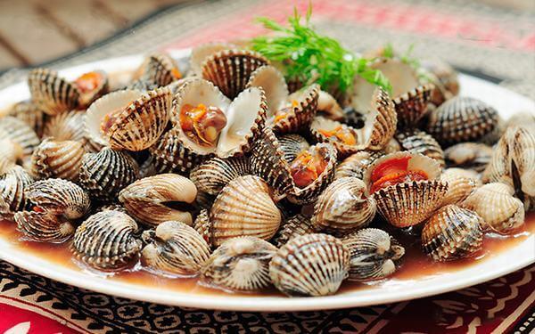Ăn gì để bổ máu cho bà bầu - Sò huyết là loại hải sản ăn tốt cho máu