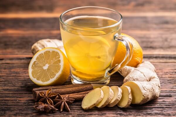 Uống trà gừng giúp giảm đau bao tử tại nhà hiệu quả