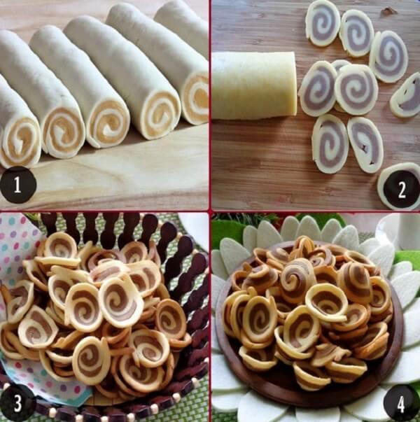 Cách làm bánh tai heo cà phê (bánh tai mèo) bằng bột mì đơn giản