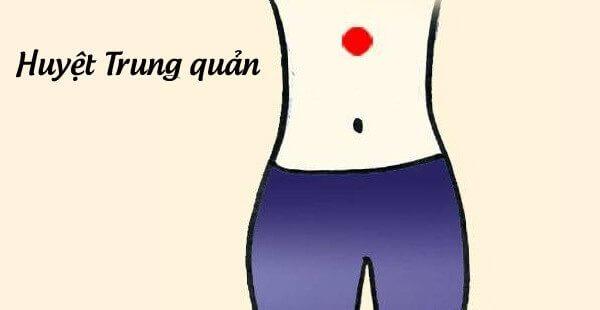 Day ấn huyệt trung quản - Cách phòng ngừa bệnh đau bao tử, đau dạ dày bằng xoa bóp, bấm huyệt