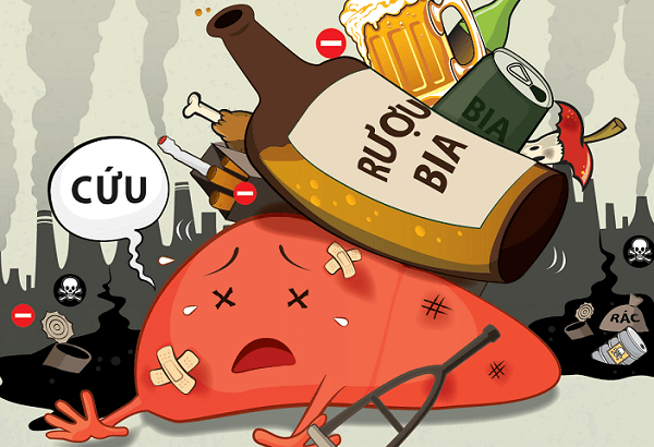 Thuốc lá và bia rượu, các chất kích thích - Triệu chứng, dấu hiệu viêm loét dạ dày tá tràng