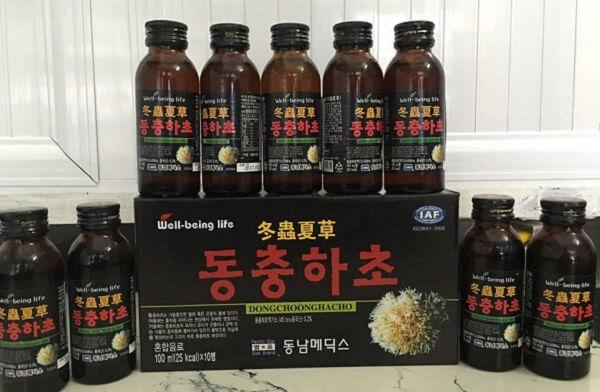 Tác dụng, cách dùng đông trùng hạ thảo dạng nước của Trung Quốc và Hàn Quốc