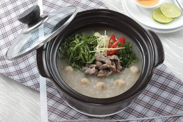 Cháo cao lương thịt dê - Bệnh đau dạ dày nên ăn gì tốt, đau bao tử kiêng ăn thực phẩm nào