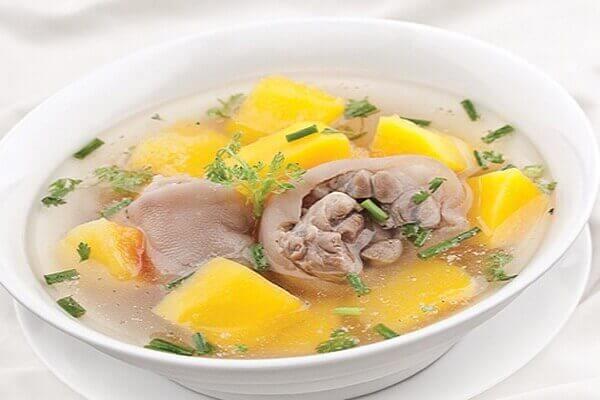 Canh đu đủ nấu sườn - Bệnh đau dạ dày nên ăn gì tốt, đau bao tử kiêng ăn thực phẩm nào