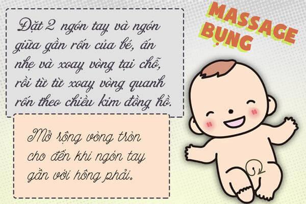 Các mẹo trị ho cho bé, trị Casckhan, ho có đờm cho trẻ sơ sinh dưới 1 tuổi bằng massage cho trẻ