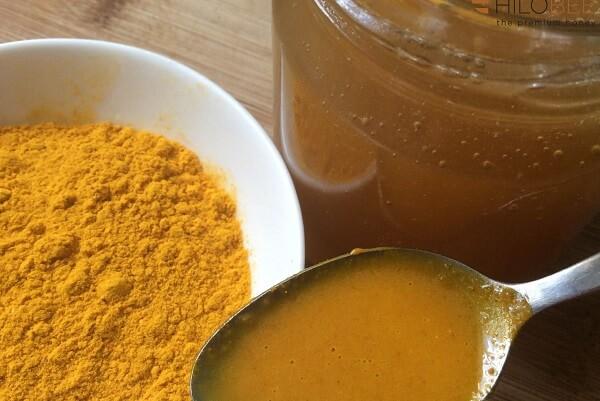 Trong quá tình bạn ngâm nghệ hoặc tinh bột nghệ với mật ong để sử dụng có thể xuất hiện một số bọt trắng