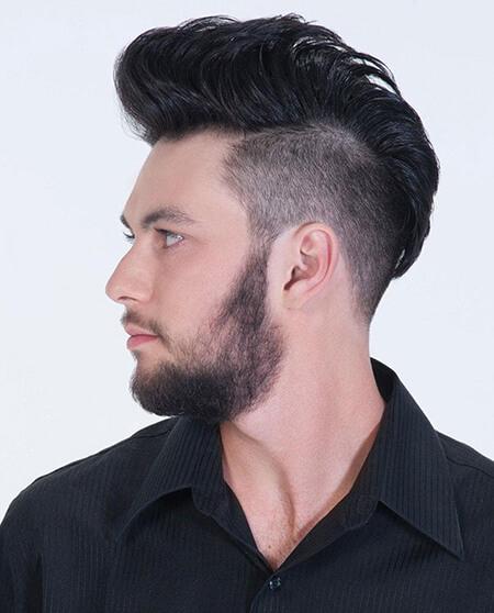 Tóc nam cho mặt dài trán cao