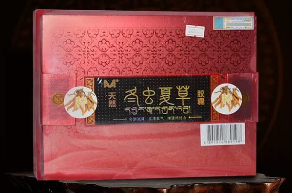 Một số sản phẩm đông trùng hạ thảo dạng viên Trung Quốc được bán tại Việt Nam