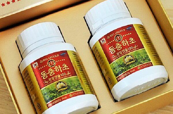 Thành phần của đông trùng hạ thảo Hàn Quốc dạng viên