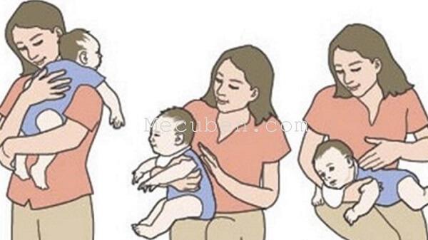 Giúp bé xì hơi để chữa bệnh khó tiêu