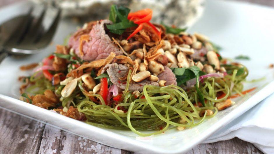 Thịt bò trộn rau muống - món ngon từ thịt bò băm