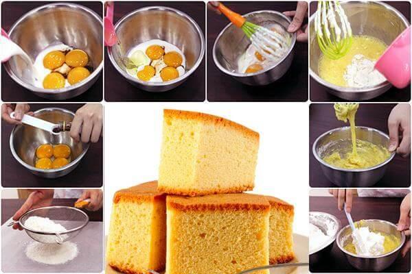 Học ngay 2 cách làm bánh bông lan nướng bằng nồi cơm điện đơn giản 3
