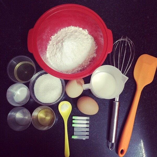 Nguyên liệu làm Bánh gato - Cách làm bánh kem sinh nhật rau câu trái cây 3d đơn giản tại nhà