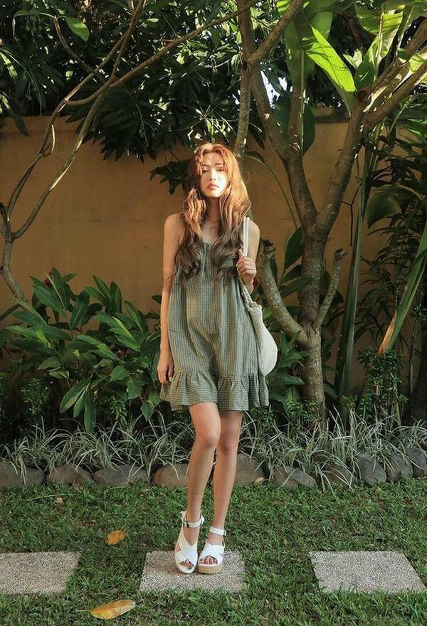 Diện đầm sành điệu – Cách phối đồ màu xanh rêu kết hợp với màu nào thì đẹp, áo, váy