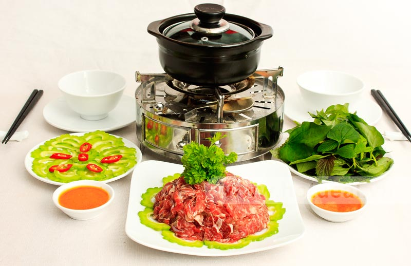 Bò nhúng giấm - những món ngon từ thịt bò