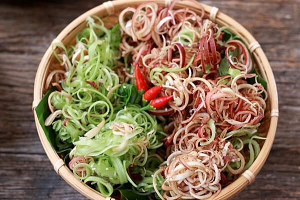 Rau chuối hay còn gọi là búp chuối – Các loại rau ăn lẩu thái, lẩu cá, lẩu bò ăn với rau gì