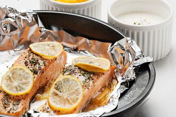Cá hồi nướng chanh - món ngon làm từ cá hồi