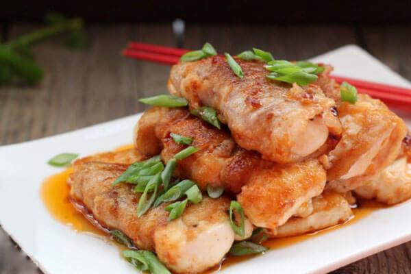 Các món heo đãi tiệc: Thịt cuộn đậu phụ
