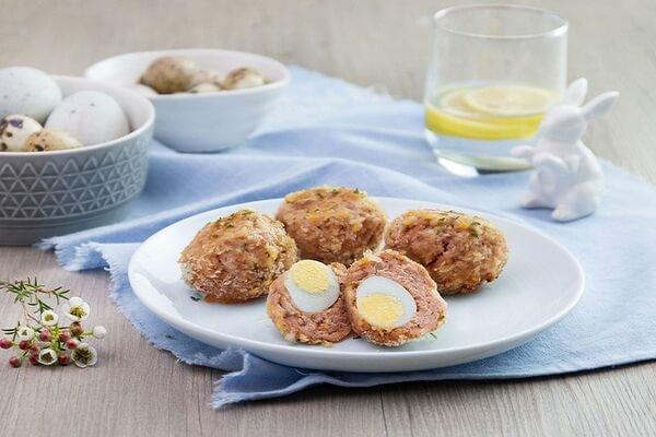 Thịt viên trứng cút – Các món heo đãi tiệc