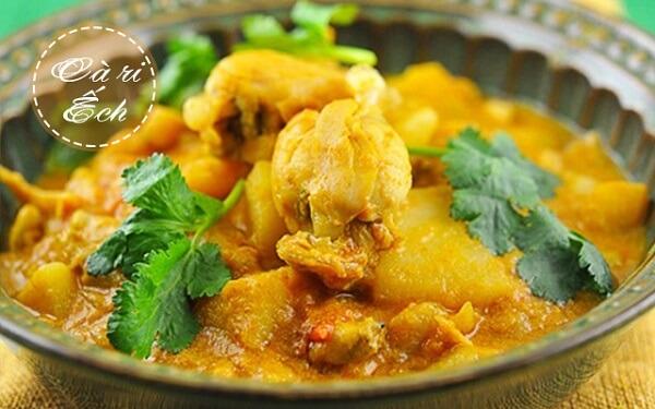 Ếch nấu cà ri - ếch xào gì ngon