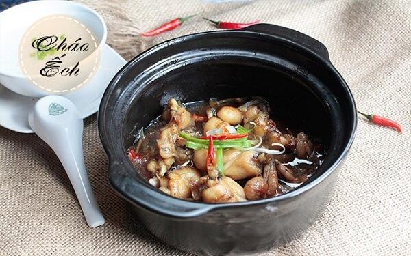 Cháo ếch Singapore - ếch nấu cháo gì cho bé