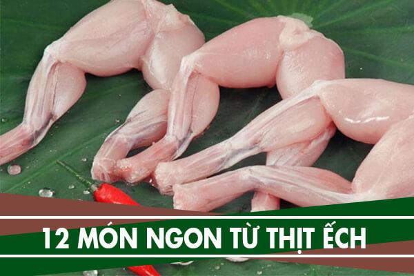 12 món ngon từ ếch – Cách chế biến thịt ếch đãi tiệc