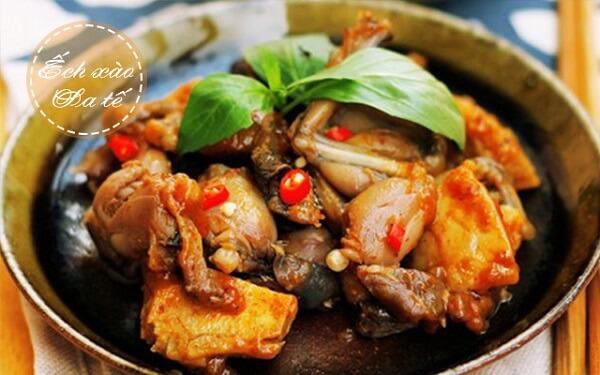 Ếch xào sa tế - cách làm món ếch ngon