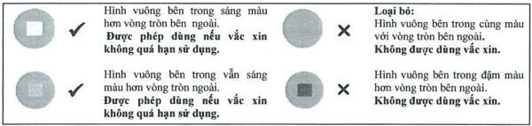 Cách đọc chỉ thị nhiệt độ (VVM) trên vacxin Quinvaxem để đảm bảo an toàn trong việc sử dụng