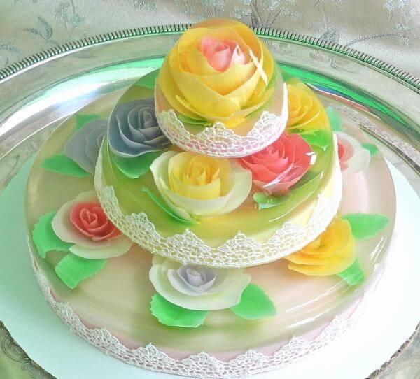 Cách làm bánh sinh nhật thạch rau câu trái cây 3d thơm ngon