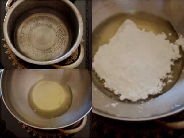 Đun sôi lòng trắng trứng và đường