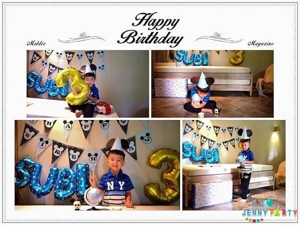 Cách trang trí sinh nhật cho bé bằng bong bóng