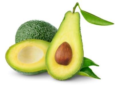 Trái bơ và các loại rau quả chứa dưỡng chất tốt cho da.