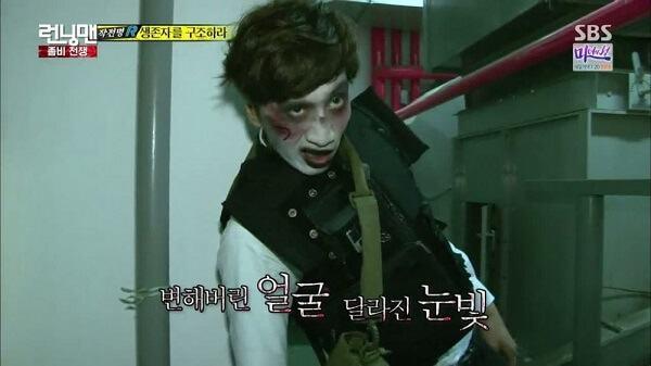 Lee Kwang Soo với tạo hình zombie ấn tượng - Danh sách khách mời Running man 2017 2018 mới nhất