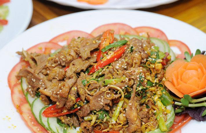 Thịt bò xào lăn -các món ngon từ thịt bò xào