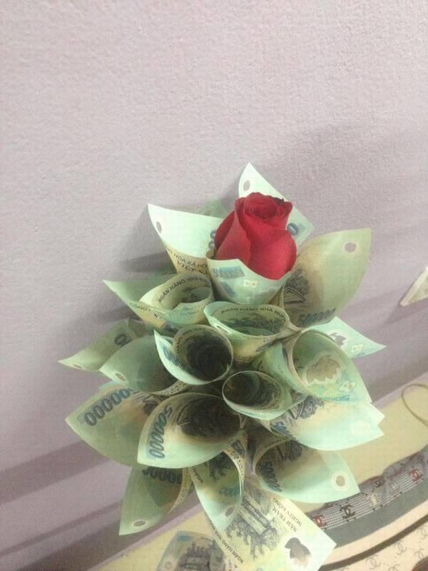 Hình ảnh bó hoa sinh nhật đẹp nhất thế giới, độc đáo ý nghĩa bằng tiền, đô la