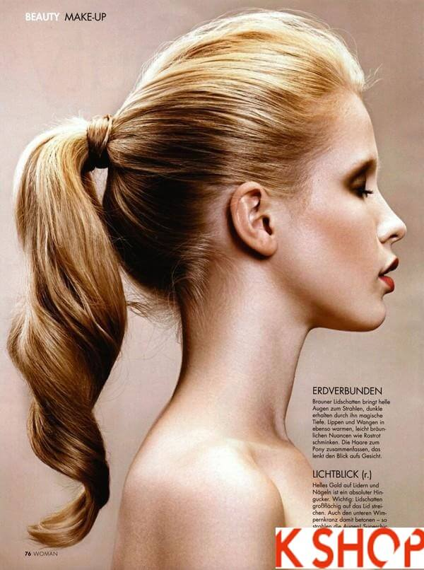 Tóc đuôi ngựa - kiểu tóc dự tiệc đơn giản dễ làm - Các kiểu tóc dự tiệc trẻ trung sang trọng, đơn giản dễ làm