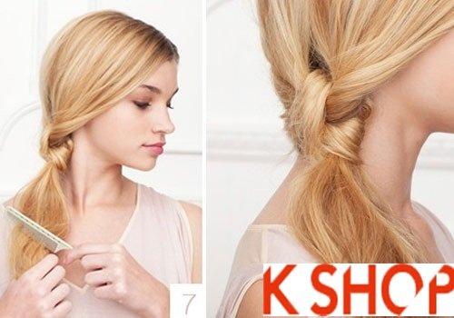 Tóc thắt nút thấp - kiểu tóc dự tiệc dễ làm